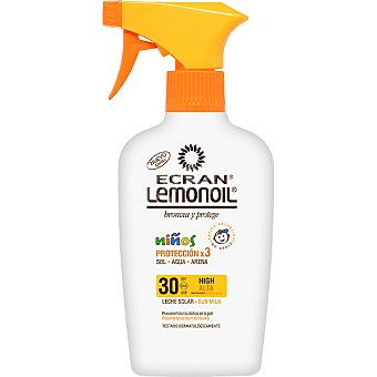 Ecran Lemonoil Broncea y protege leche solar niños FP-30 pistola 375 ml