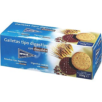 HIPERCOR galletas tipo Digestive con chocolate paquete 300 g