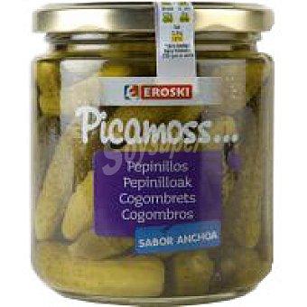 Eroski Pepinillos sabor anchoa Tarro 190 g