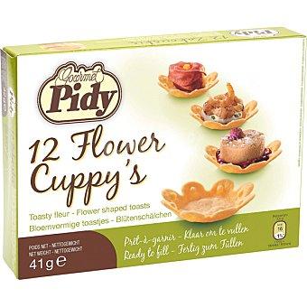 Pidy Minitartaletas con forma de flor 16 unidades envase 41 g 16 unidades