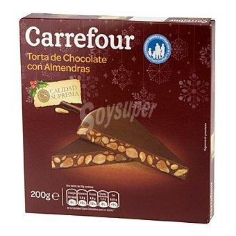 Carrefour Torta de chocolate con almendras 200 g