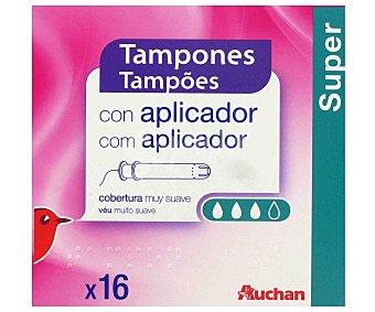 Auchan Tampones con aplicador super 16 uds