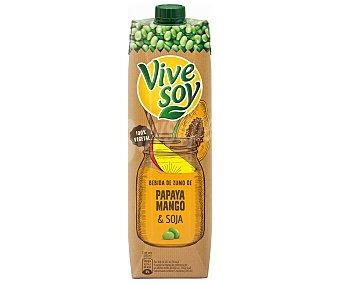 Vivesoy de Pascual Bebida de zumo de papaya mango y soja envase 1 l Envase 1 l