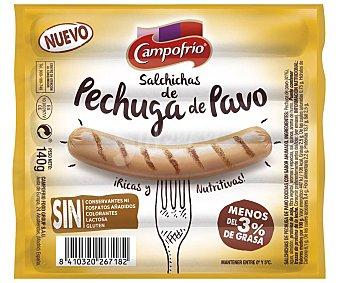 Campofrío Salchichas de carne de pechuga de pavo 100% Paquete 140 g
