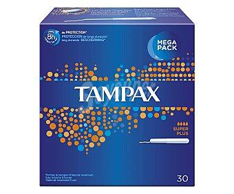 Tampax Tampón super plus con aplicador Caja de 30 unidades