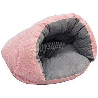 Arppe Cuna nido para perro Dudu micro pana y antelina reversible color rosa medida 50x30 cm 1 unidad