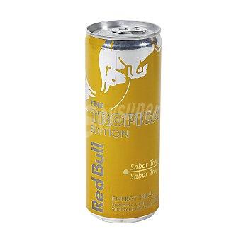 Red Bull Bebida energética sabor tropical  Tropical Edition lata 25 cl