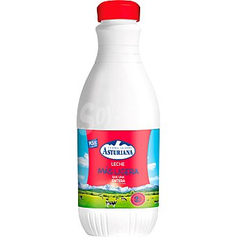 ASTURIANA leche entera Más Ligera 2% Materia Grasa botella 1,2 l
