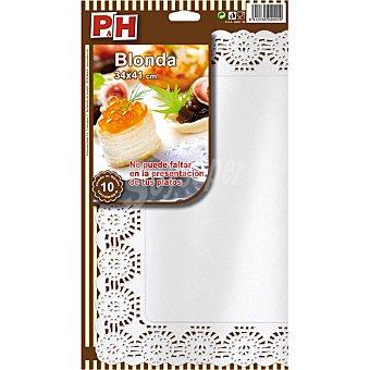 P & H Blonda blanca 34x41 Estuche 10 unidades