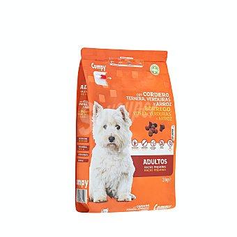 Compy Comida perro seca con cordero ternera adulto razas pequeñas Paquete 3 kg