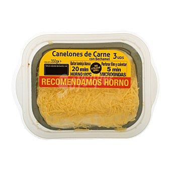 Platos tradicionales Comida preparada canelones de carne  Bandeja de 350 g