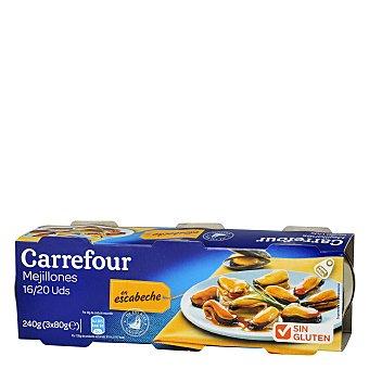 Carrefour Mejillón rias gallegas - Sin Gluten Pack de 3x43 g
