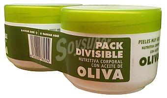 Deliplus Crema corporal aceite oliva 2 unidades de 200 ml