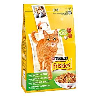 Purina Friskies Pienso para gatos adultos conejo y verduras Bolsa 4 kg