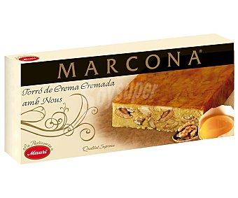 Marcona Turrón de mazapán, crema tostada y nueces Tableta 250 g
