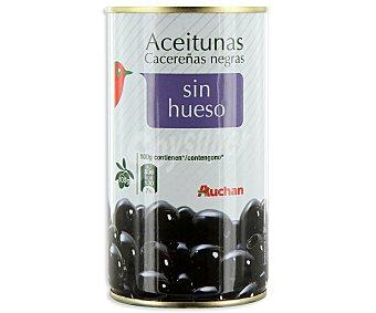 Auchan Aceitunas negras sin hueso Lata de 150 gramos
