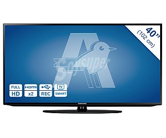 "Samsung Televisor 40"" LED full HD, TDT HD, smart TV, wifi, USB reproductor, hdmi, 100HZ. Televisión de gran formato 40H5203"
