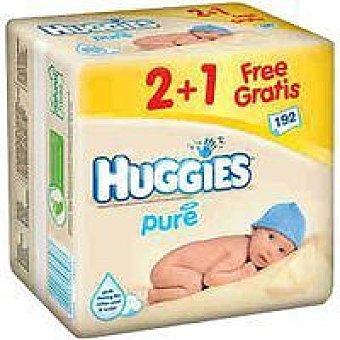 Huggies Toallitas Pure Paquete 2+1 unidad