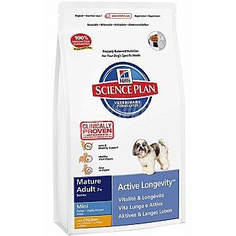 HILL'S SCIENCE PLAN MATURE ADULT Mini active longevity alimento especial para la movilidad de perros +7 años con pollo bolsa 3 kg Bolsa 3 kg