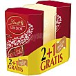 Bombones de chocolate con leche relleno cremoso 00600 g regalo de Lindt Lindor de dulce de leche de 200g Pack 2 Lindt Lindor