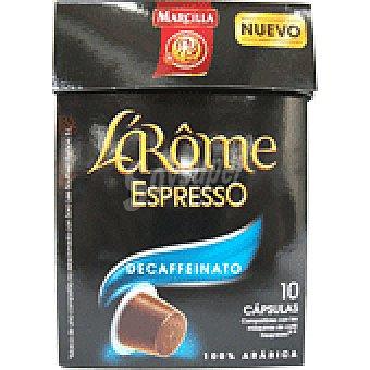 L'Arôme Espresso Marcilla Cafe Descafeinado Cápsulas L'Arôme Espresso - Intensidad 6 PAQUETE 10 u