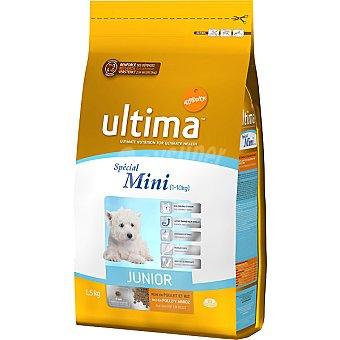 Ultima Affinity alimento para cachorros de raza mini con pollo y arroz Special Mini Junior paquete 1,5 kg
