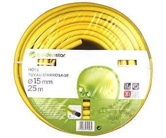 Garden Star Manguera de riego de PVC de 3 capas y 15 milímetros de diámetro 25 metros