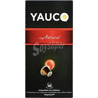 YAUCO Café natural ápsulas compatible con máquinas Nespresso estuche 50 g 10 c