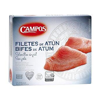 Campos Solomillos de atún congelados Caja 250 g