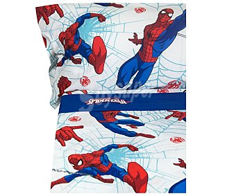 Spiderman Marvel Juego de sábanas infantil de 3 piezas 50% algodón para cama de 90cm. diseño spiderman
