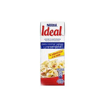 Ideal Leche evaporada parcialmente desnatada para salsas y cremas ligeras Brik 210 g