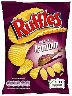 Ruffles Patatas fritas con sabor a jamón 45 gramos
