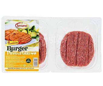 Burger meat de pavo y pollo serrano 320 gr Pack de 4 uds