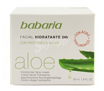 Babaria Crema Hidratante Facial 24 horas con Aloe Vera 50 ml