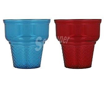 PASABAHCE Cornet Copa de vidrio de colores para helados, Cornet, PASABAHCE.