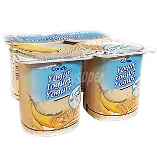 Condis Yogur sabor platano 4 UNI