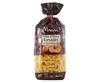 Auchan Fusillis, pasta de sémola de trigo duro de calidad superior al huevo 250 gramos