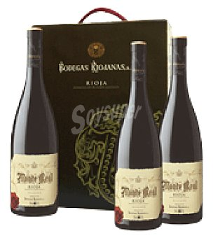 Monte Real Estuche vino tinto D.O. Rioja Reserva Pack de 3x75 cl