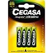 Pila super alcalina AAA (LR03) 1,5v Blister 4 u Cegasa