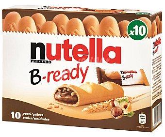 Nutella Galletas crujiente rellena de chocolate y avellanas 10 uds x 220 g