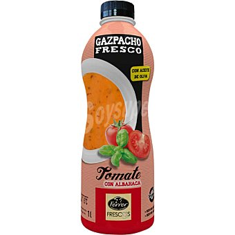 FERRER gazpacho de tomate con albahaca y aceite de oliva envase 1 l