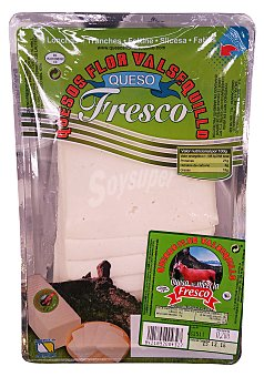 Valsequillo Queso fresco lonchas Paquete 200 g