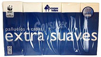 Bosque Verde Pañuelos papel bolsillo compacto 4 capas extrasuave (azul oscuro) Pack 30 x 10 u