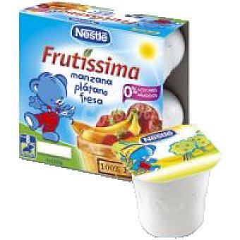 Nestlé Puré de manzana-plátano-fresa Pack 4x100 g