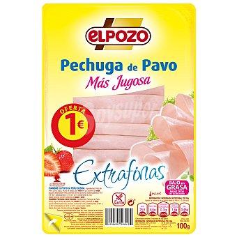 ElPozo Pechuga de pavo lonchas finas Bandeja 100 g