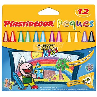 BIC Kids Estuche con 12 ceras plastidecor peques