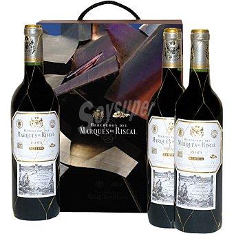 Marqués de Riscal Vino tinto reserva D.O. Rioja Estuche de cartón 3 botellas 75 cl 3 botellas 75 cl