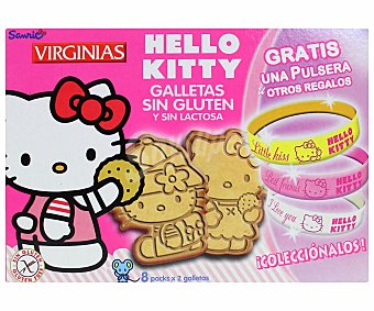HELLO KITTY Virginias Galletas sin gluten y sin lactosa hello kitty de virginia 120 Gramos