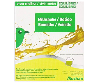 Auchan Batido de vainilla Vivir Mejor 9 sobres de 30 g