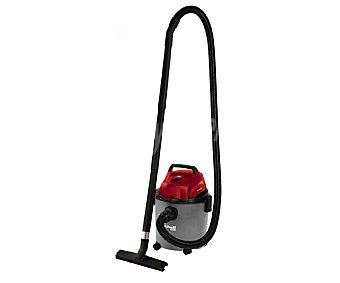 EINHELL Aspirador de elementos secos y húmedos, con cuerpo de abs, potencia de 1250 Watios, deposito de 15 litros, ruedas pivotantes y diferentes boquillas 1 unidad